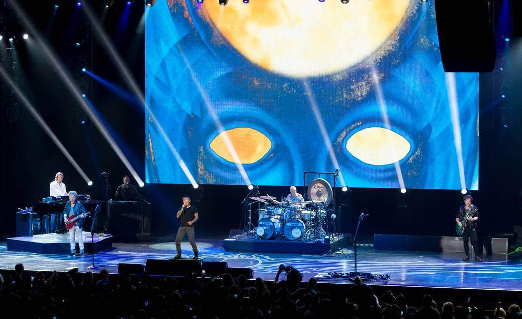 Journey is shown during its nine-show residency at The Joint at the Hard Rock Hotel on Wednesday, May 5, 2017 (Erik Erik Kabik Photography)