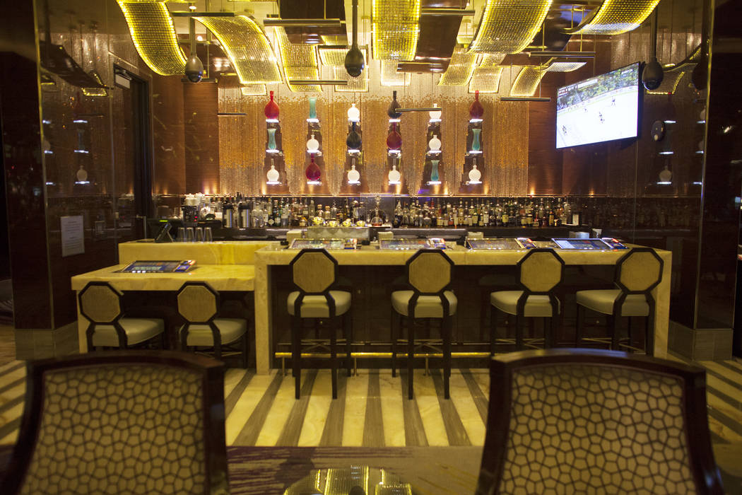 The bar at the high limit slot area at The Cosmopolitan hotel-casino on Monday, May 8, 2017, in Las Vegas. Rachel Aston Las Vegas Review-Journal @rookie__rae