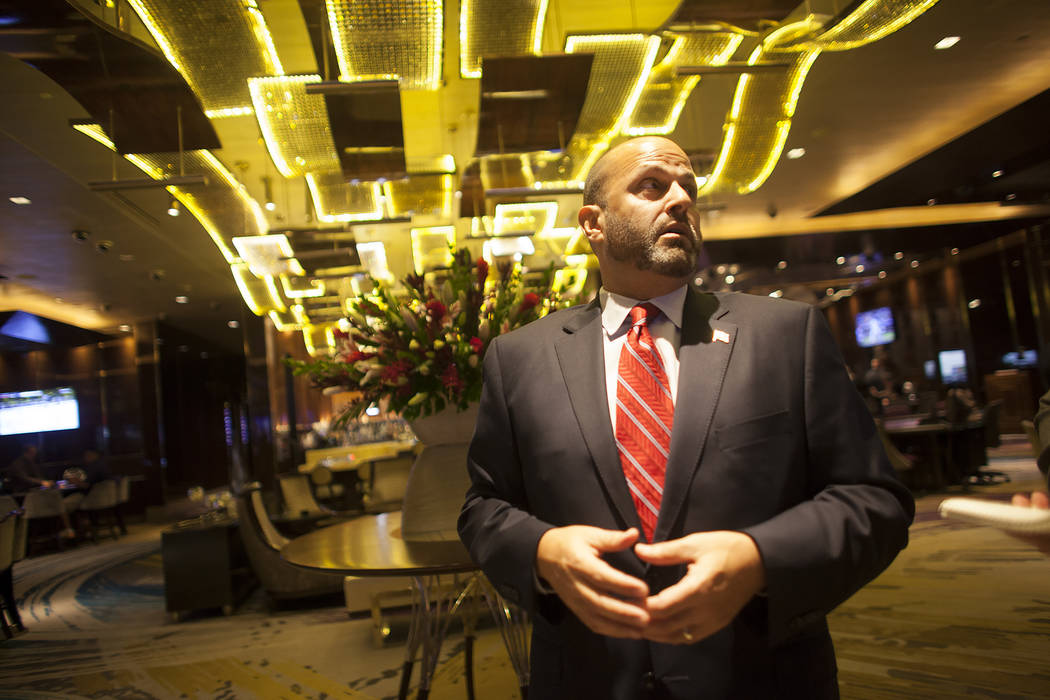 Brian Benowitz, vice president of gaming operations, talks to the Review-Journal at the high limit slot area at The Cosmopolitan hotel-casino on Monday, May 8, 2017, in Las Vegas. Rachel Aston Las ...