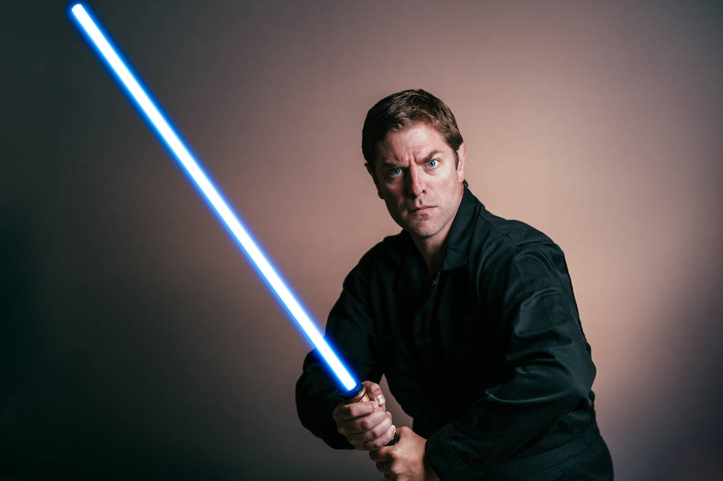 "Charles Ross condenses the original ""Star Wars"" trilogy into an hourlong one-man show. Charles Ross"