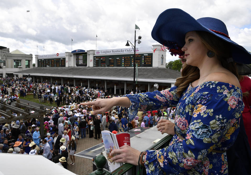 May 6, 2017; Louisville , KY, USA; Bridgette Brown looks out over the paddock area before the 2017 Kentucky Derby at Churchill Downs. Mandatory Credit: Jamie Rhodes-USA TODAY Sports