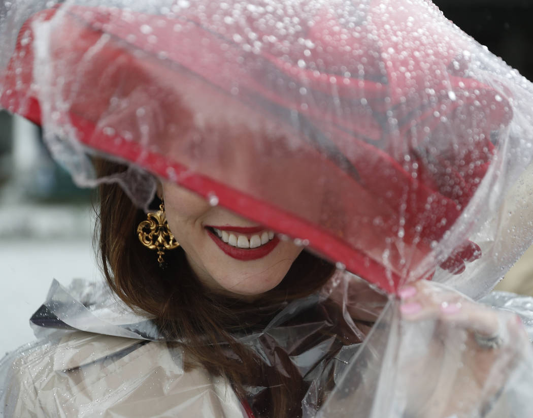 Ariana Muth smiles before the 143rd running of the Kentucky Derby horse race at Churchill Downs Saturday, May 6, 2017, in Louisville, Ky. (AP Photo/John Minchillo)
