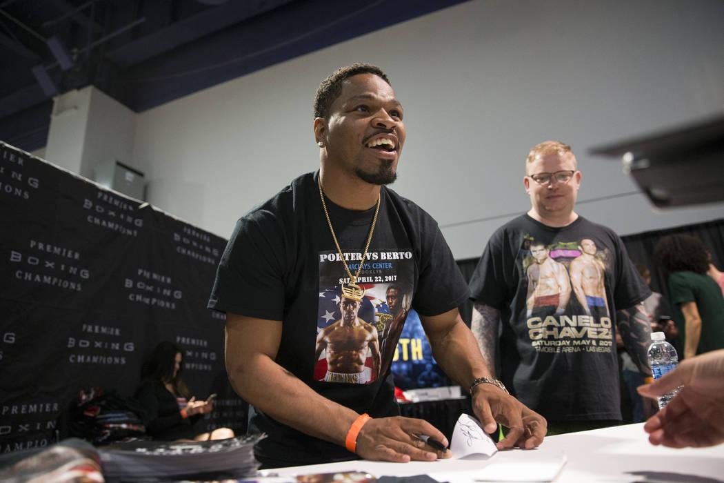 Professional boxer Shawn Porter during the Box Fan Expo at the Las Vegas Convention Center on Saturday, May 6, 2017, in Las Vegas. Erik Verduzco Las Vegas Review-Journal @Erik_Verduzco