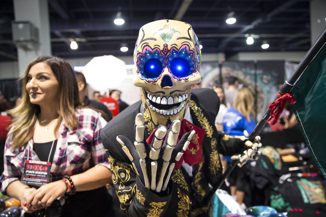 A person in costume during the Box Fan Expo at the Las Vegas Convention Center on Saturday, May 6, 2017, in Las Vegas. Erik Verduzco Las Vegas Review-Journal @Erik_Verduzco