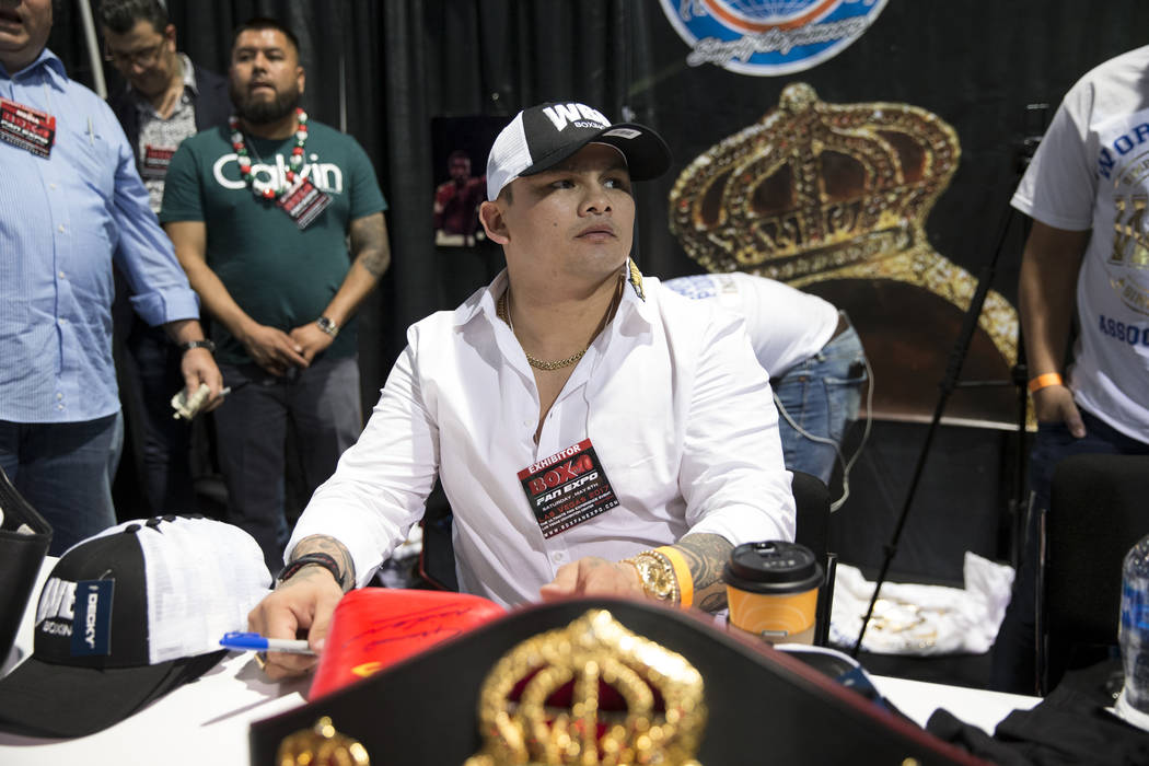 Former boxer Marcos Maidana during the Box Fan Expo at the Las Vegas Convention Center on Saturday, May 6, 2017, in Las Vegas. Erik Verduzco Las Vegas Review-Journal @Erik_Verduzco