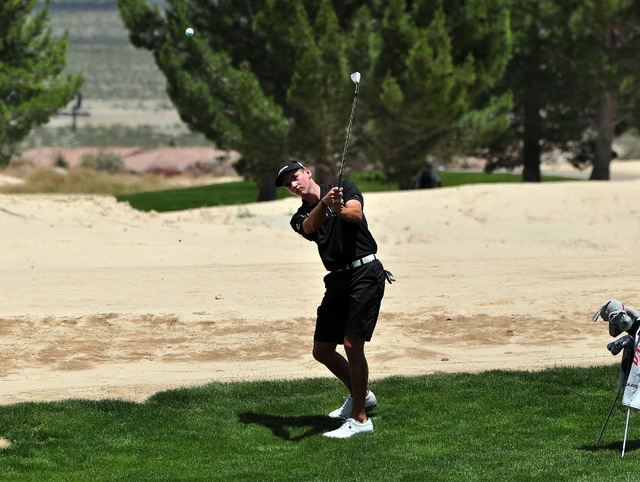 Horace Langford Jr / Pahrump Valley Times Faith Lutheran golfer Charlie Magruder.