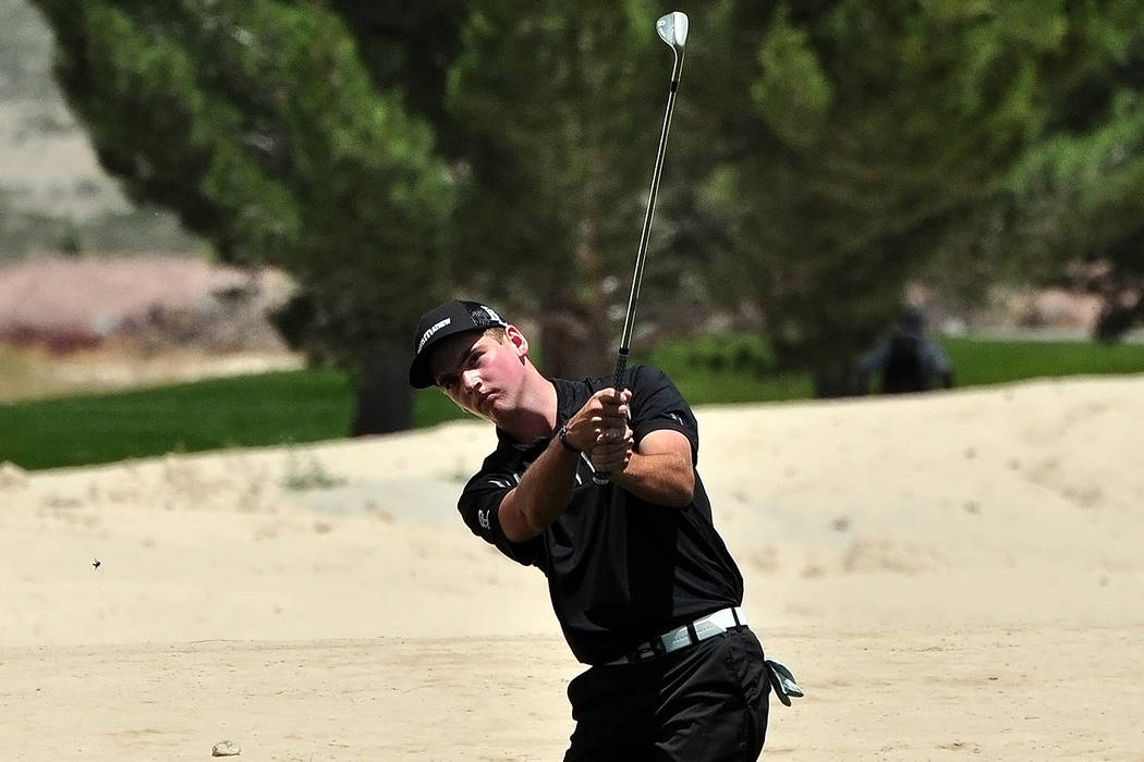 Charlie Magruder, Faith Lutheran: The junior shot a 2-under 142 to win the Division I-A state tournament. He won the Southern Region tournament. (Horace Langford Jr./Pahrump Valley Times)