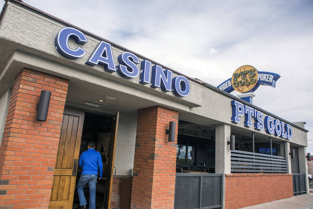 The former Beano's Casino at 7200 E. Lake Mead Blvd., is now Golden Entertainment PT's Tavern. Golden Entertainment renovation and rebranded Beano's facility on West Lake Mead.  Jeff Scheid/La ...