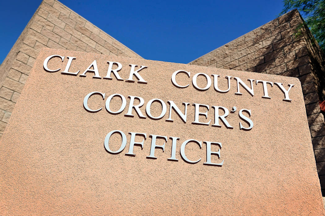 Clark County Coroner Office. David Becker Las Vegas Review-Journal