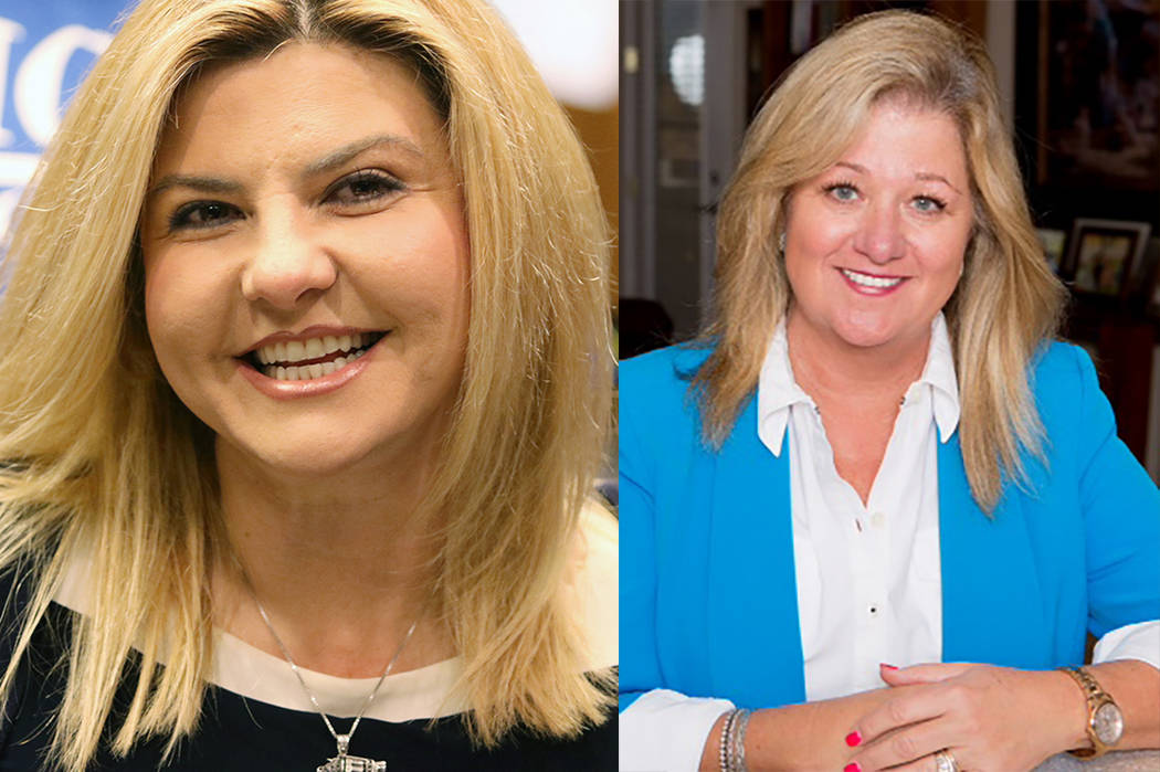 Michele Fiore and Kelli Ross (Las Vegas Review-Journal)