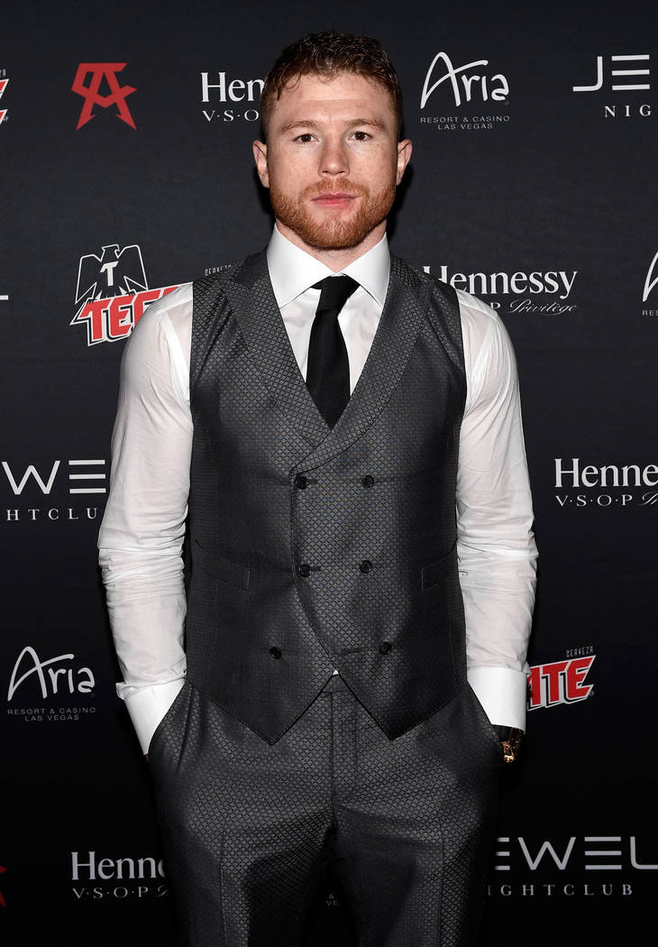 Canelo Alvarez arrives at his Official After-Fight Party at Jewel at Aria on Saturday, May 6, 2017, in Las Vegas. (David Becker/WireImage)