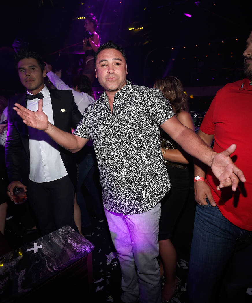 Golden Boy Promotions Chairman and CEO Oscar De La Hoya attends Canelo Alvarez's Official After-Fight Party at Jewel at Aria on Saturday, May 6, 2017, in Las Vegas. (David Becker/WireImage)