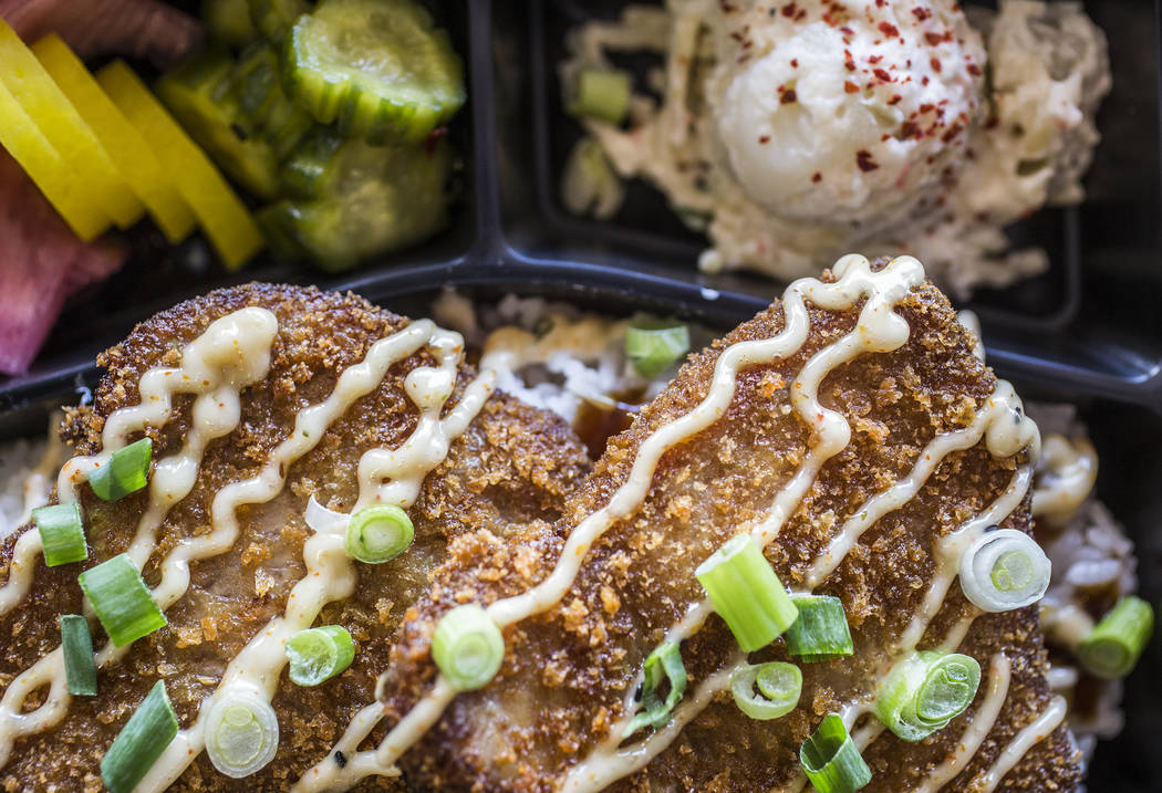 Kimura ahi katsu bento plate at Paina Cafe on Tuesday, May 9, 2017, in Las Vegas. Benjamin Hager Las Vegas Review-Journal @benjaminhphoto