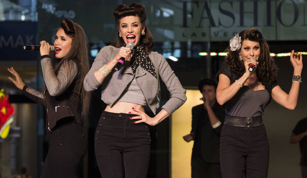 Vox Vegas performs during a celebration of tourism hosted by the Las Vegas Convention and Visitors Authority at the Fashion Show mall in Las Vegas on Tuesday, May 9, 2017. Miranda Alam Las Vegas R ...