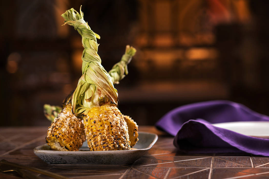 Chef Lorena Garcia's Corn Lolipops. (Anthony Mair)