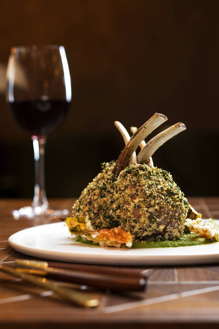 Chef Lorena Garcia's Pepita-Crusted Lamb. (Anthony Mair)