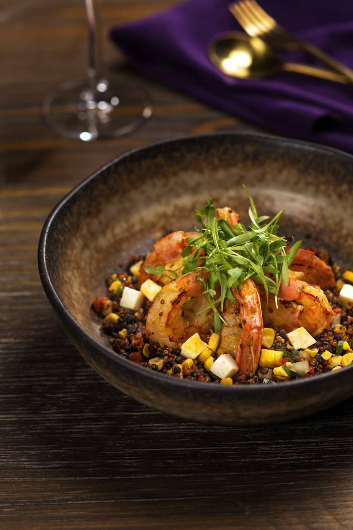 Chef Lorena Garcia's Shrimp Quinoa Cazuela. (Anthony Mair)