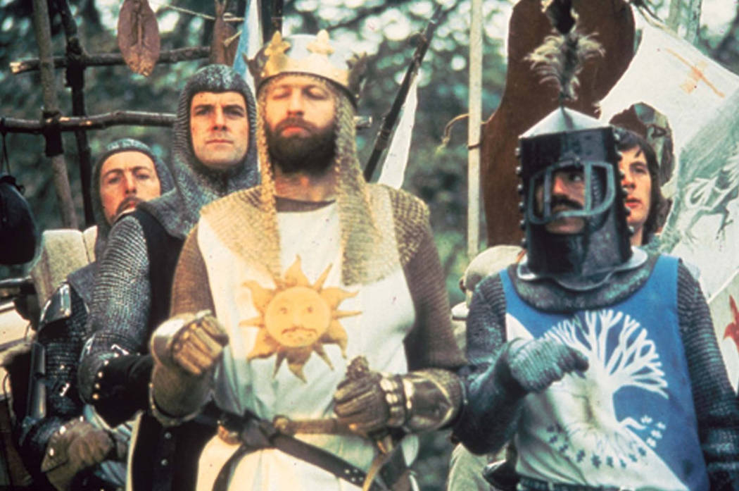 """Graham Chapman, center, stars as King Arthur in """"Monty Python and the Holy Grail."""" Sony Pictures Home Entertainment"""