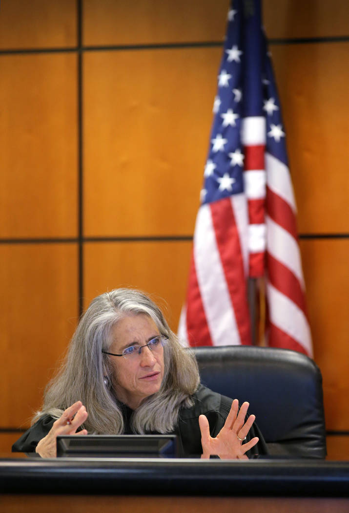Washoe County District Court Judge Frances Doherty speaks at a hearing on Aden Hailu in Reno, Nev., on Tuesday, Dec. 29, 2015. The family of 20-year-old Hailu is fighting St. Mary's Regional Medic ...