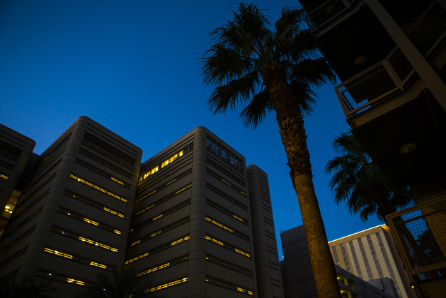 The exterior of the Clark County Detention Center is shown in downtown Las Vegas on Tuesday, Oct. 11, 2016. Chase Stevens/Las Vegas Review-Journal Follow @csstevensphoto