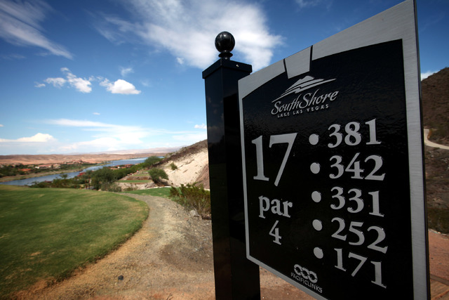 Pacific Links International owns SouthShore Golf Club at Lake Las Vegas, seen on Monday, Sep. 9, 2013. (Jessica Ebelhar/Las Vegas Review-Journal)