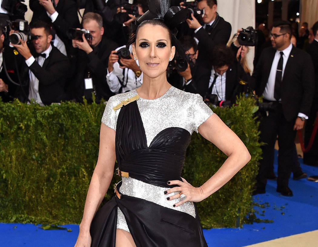 "Caesars Palace headliner Celine Dion attends ""Rei Kawakubo/Comme des Garcons: Art of the In-Between"" Costume Institute Gala at The Metropolitan Museum of Art on Monday, May 1, 2017, in New York Ci ..."