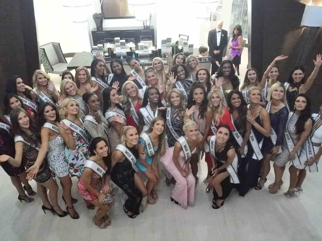 The 2017 Miss USA Pageant contestants in Las Vegas. (Richard Corey)