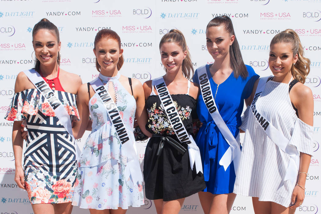 2017 Miss USA Pageant contestants before the Yandy Swim Fashion Show at Mandalay Bay on Friday, May 5, 2017, in Las Vegas. (Miss Universe Organization)