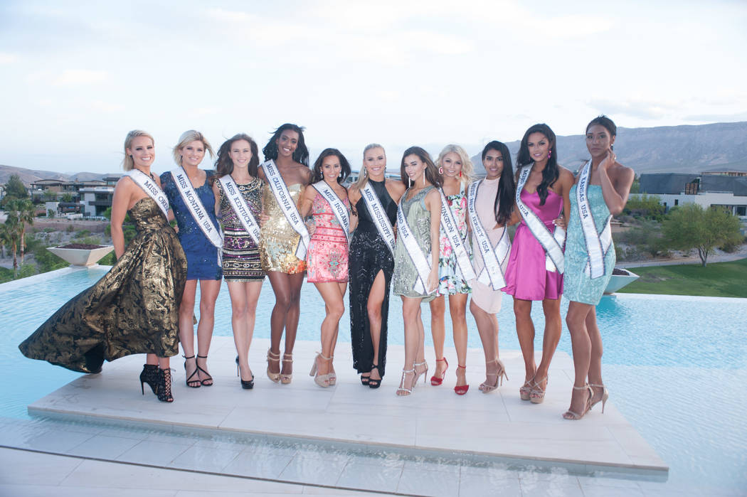 2017 Miss USA Pageant contestants attend The Miss USA Welcome Reception hosted by The USO of Las Vegas on Saturday, May 6, 2017. (Miss Universe Organization)