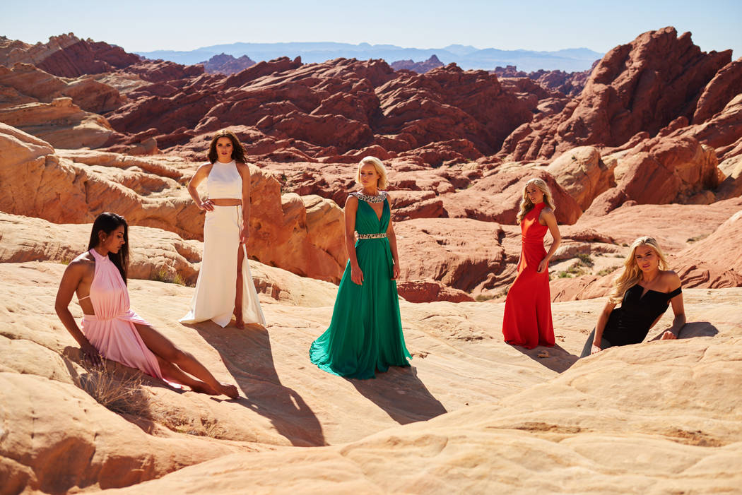 2017 Miss USA Pageant contestants take part in a photo shoot at Valley of Fire State Park in Nevada on Friday, May 5, 2017. (Miss Universe Organization)