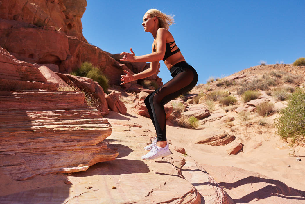 2017 Miss Oregon Liz Denny takes part in a photo shoot at Valley of Fire State Park in Nevada on Friday, May 5, 2017. (Miss Universe Organization)
