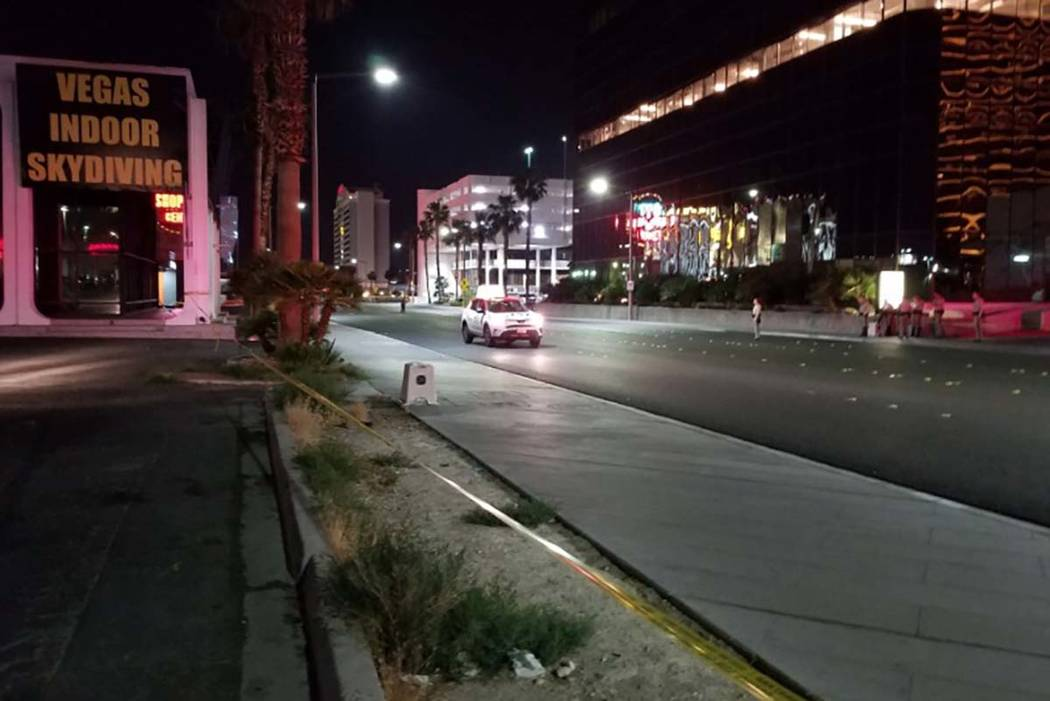 Convention Center Drive between Channel 8 Drive and Debbie Reynolds Drive was blocked while Las Vegas police investigated a fatal collision late Monday night involving a taxi and a pedestrian. Mik ...