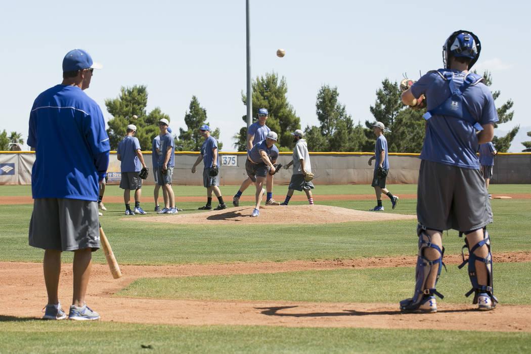 College of Southern Nevada players run drills during a practice at Morse Stadium on Tuesday, May 16, 2017, in Henderson.  Bridget Bennett Las Vegas Review-Journal @bridgetkbennett