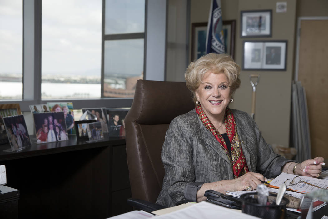 Las Vegas Mayor Carolyn Goodman at her office inside Las Vegas City Hall on Wednesday, May 10, 2017, in Las Vegas. Erik Verduzco/Las Vegas Review-Journal Follow @Erik_Verduzco