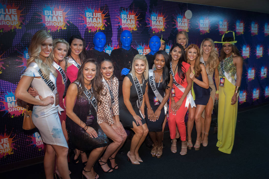 Miss USA Pageant contestants visit Blue Man Group at The Luxor on Saturday, May 6, 2017, in Las Vegas. (Miss Universe Organization)