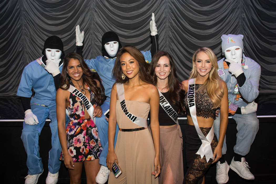 Miss USA Pageant contestants attend Jabbawockeez at MGM Grand on Sunday, May 7, 2017, in Las Vegas. (Miss Universe Organization)