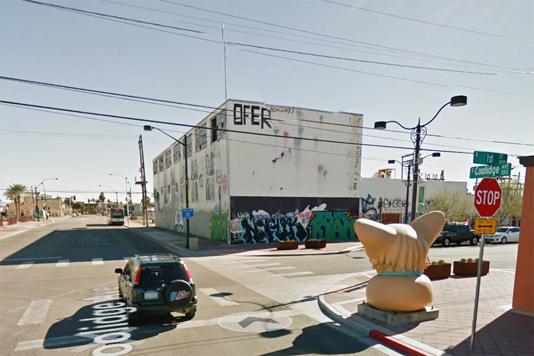 Mission Linen building at First Street and Coolidge Avenue in downtown Las Vegas. (Google Street View)