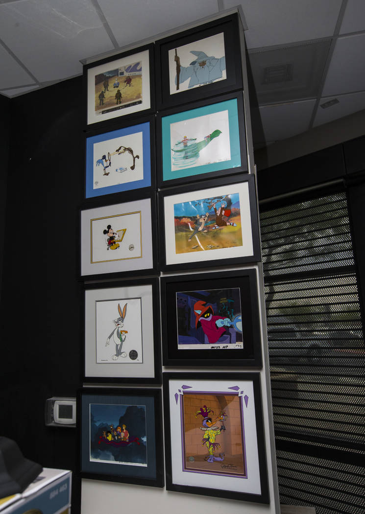 Animated slides inside Torpedo Comics at 9300 Arroyo Crossing Parkway in Las Vegas on Friday, May 5, 2017. The store is slated to open later this month. Chase Stevens Las Vegas Review-Journal @css ...