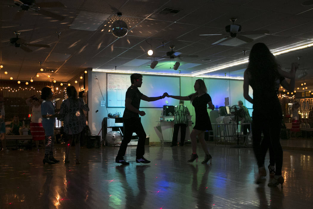 Partners dance at Arthur Murray Dance Studio on Thursday, May 11, 2017 in Las Vegas. Bridget Bennett Las Vegas Review-Journal @bridgetkbennett