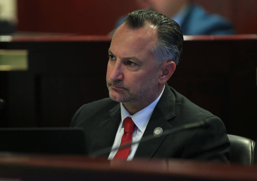 Assemblyman Chris Brooks during a legislative hearing about Assembly Bill 277, at the Grant Sawyer State Office Building in Las Vegas on Friday, March 31, 2017. (Brett Le Blanc/Las Vegas Review-Jo ...