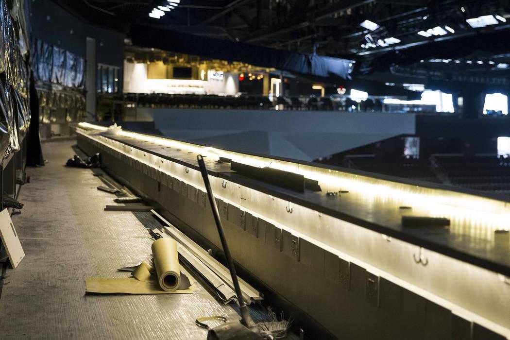 The hockey press box still under construction at T-Mobile Arena on Thursday, May 11, 2017 in Las Vegas. Erik Verduzco Las Vegas Review-Journal @Erik_Verduzco