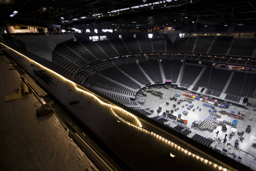 The view from the future hockey press box still under construction at T-Mobile Arena on Thursday, May 11, 2017 in Las Vegas. Erik Verduzco Las Vegas Review-Journal @Erik_Verduzco