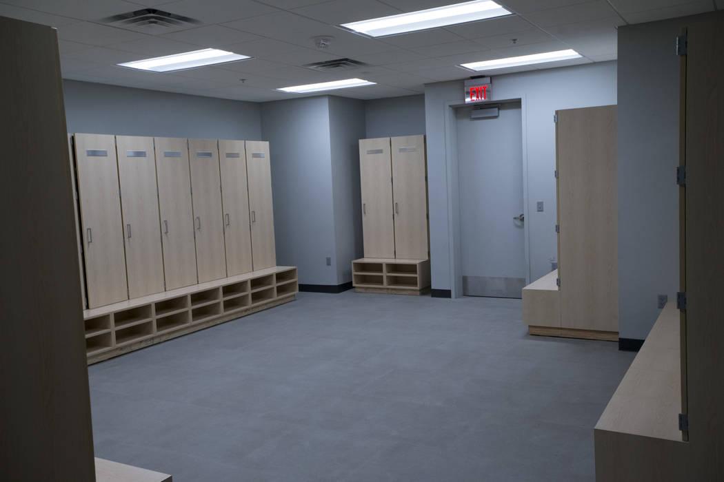 The hockey visitor's locker room at T-Mobile Arena on Thursday, May 11, 2017 in Las Vegas. Erik Verduzco Las Vegas Review-Journal @Erik_Verduzco