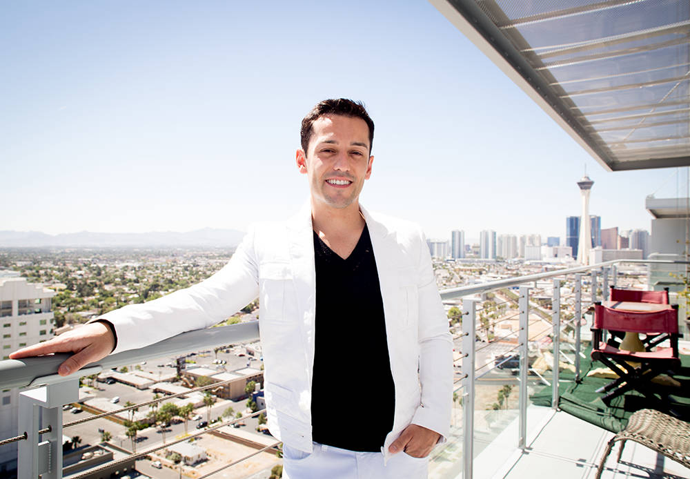 Las Vegas performer Frederic Da Silva purchased high-end Las Vegas hotel furniture and features to decorate his downtown high-rise penthouse. (Tonya Harvey Real Estate Millions)