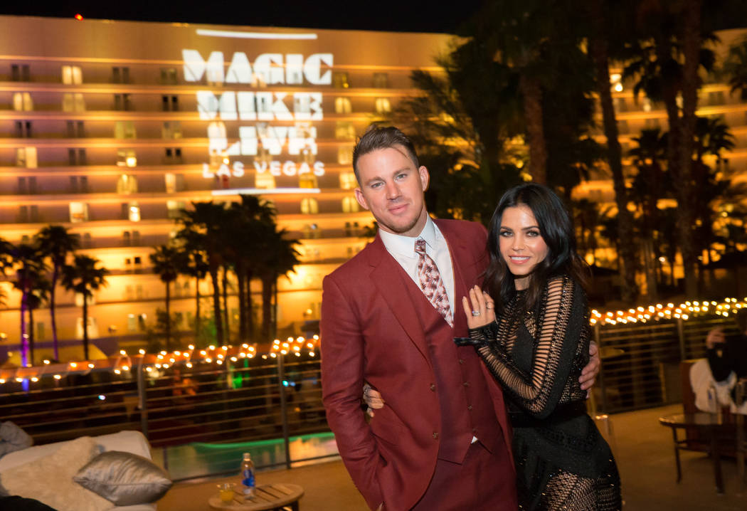 "Channing Tatum and Jenna Dewan-Tatum attend the grand opening of his ""Magic Mike Live"" at The Hard Rock Hotel on Friday, April 21, 2017, in Las Vegas. (Erik Kabik)"
