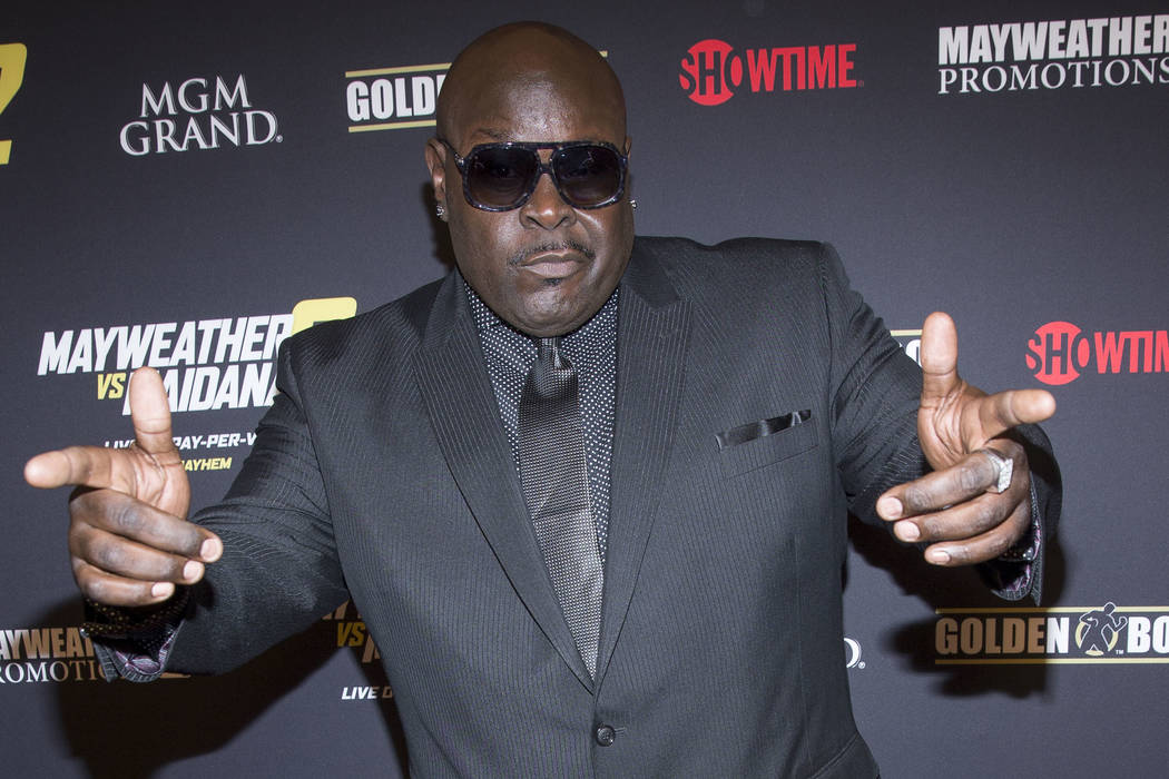 Christopher Boykin (Big Black) arrives at the VIP Pre-Fight Party for Mayhem: Mayweather Vs. Maidana 2, Saturday Sept. 13, 2014, at The MGM Grand Garden Arena in Las Vegas. (Photo by Andrew Estey/ ...