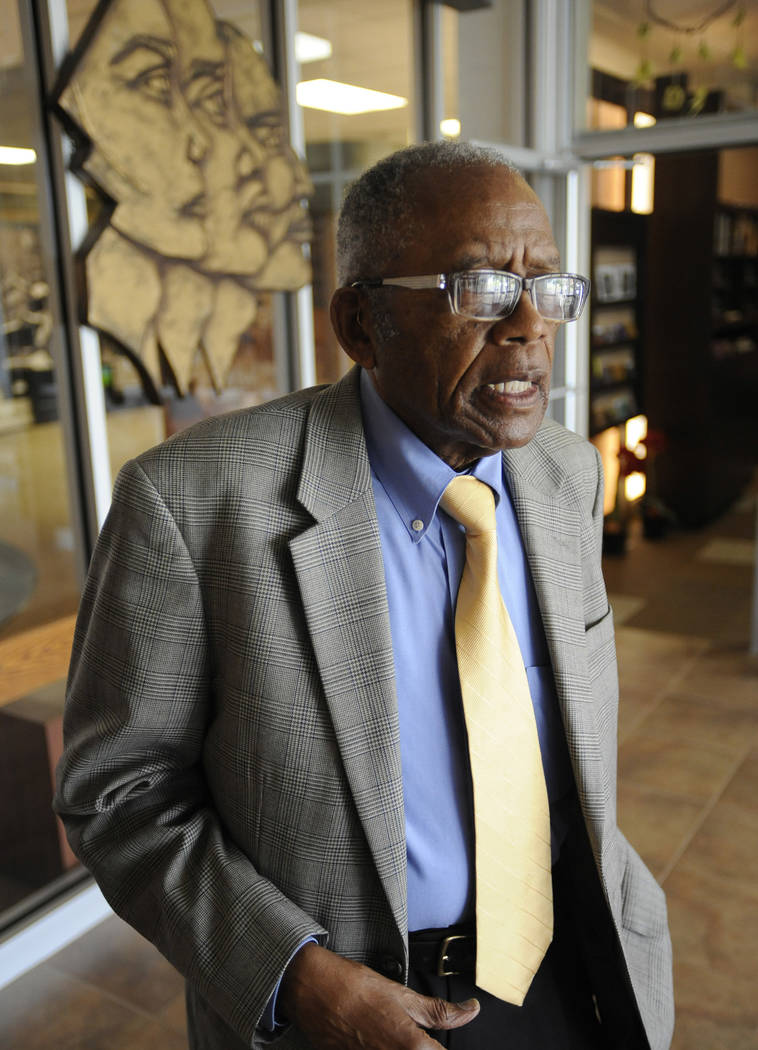 Attorney Fred Gray visits the Tuskegee Human and Civil Rights Multicultural Center in Tuskegee, Ala., on Tuesday, April 18, 2017. Gray represented the Tuskegee syphilis study men in a lawsuit agai ...