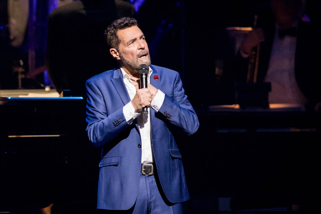 Clint Holmes at the fifth-anniversary celebration of The Smith Center for the Performing Arts on Tuesday, March 7, 2017, in Downtown Las Vegas. (Erik Kabik)