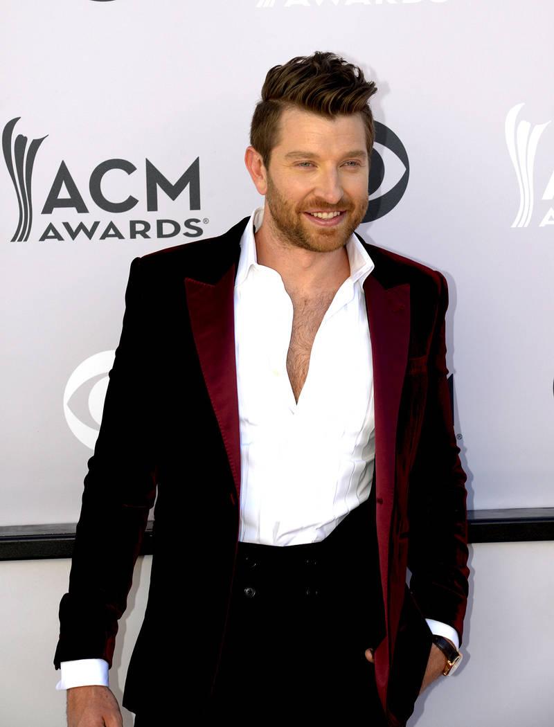 Brett Eldredge walks the Academy of Country Music Awards red carpet at T-Mobile Arena on Sunday, April 2, 2017, in Las Vegas. (Glenn Pinkerton/Las Vegas News Bureau)
