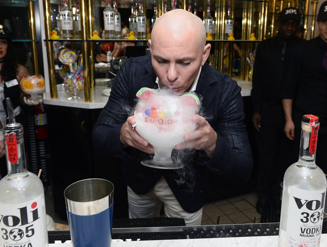 Pitbull hosts the grand opening of Sugar Factory Fashion Show on Sunday, March 19, 2017, in Las Vegas. (Bryan Steffy/Getty Images)